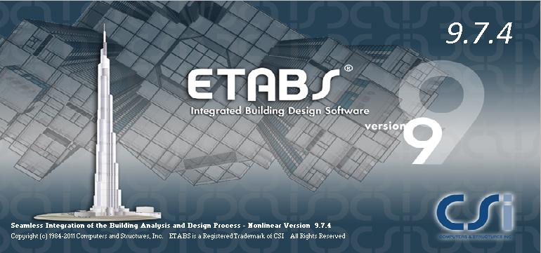 Etabs 9.7.4 برای ویندوز 10